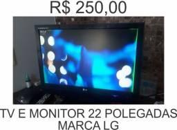 Tv monitor televisão lg 22 polegadas em perfeito estado