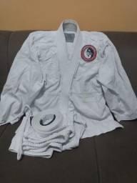 Kimono Jiu-Jitsu Adolescente Completo com Faixa