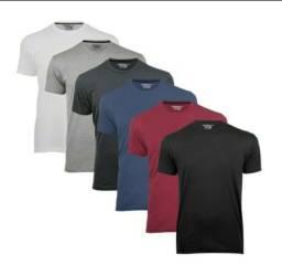 6 camisetas básicas 100% algodão - Tam. M