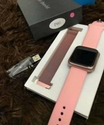 Relógio smartwatch P80 Bluetooth 2 Pulseiras