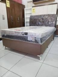 CAMA BOX CASAL MOLAS PLUMATEX apenas 1249,00! IMPERDÍVEL