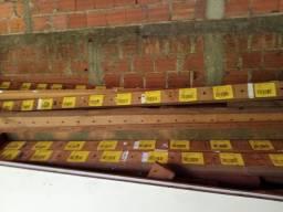 Caibro de cambara madeira rústica 2,50 de largura miolo 6 ctm por 9 ctm