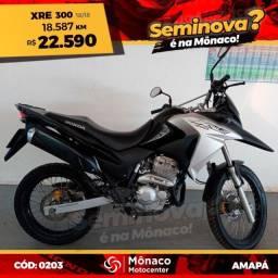 Título do anúncio: Honda XRE 300 18/18- Seminovos Mônaco