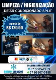 Título do anúncio: orçamento via whats 99307.0188-Limpeza de ar condicionado Split*Promoção