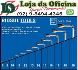 Título do anúncio: Jogo de Chave Biela de 8 à 19 MM com 12 Peças R010249 RIOSUL TOOLS