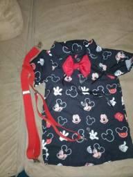 Título do anúncio: Roupa Mickey com suspensórios e gravata