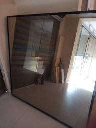Espelho 120x120, 3m.m, com ou sem moldura, perfeito, sem arranhões, e manchas