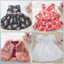 Lote vestidos de menina
