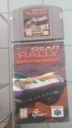 Cartucho Nintendo 64 TopGear Rally com manual