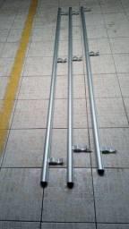 3 barras de corrimão de alumínio