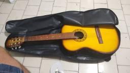 Violão profissional completo com afinador digita 150 reais novo l