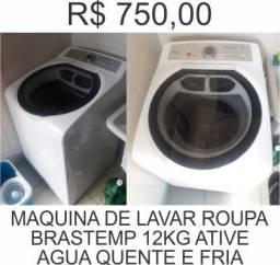 Maquina de lavar roupas brastemp ative 12kg, bem nova