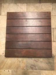 Tablado IPÊ - 50 x 50 cm, 25 peças