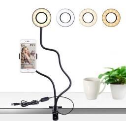 Ring Light de Mesa Com Suporte P/Celular