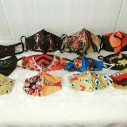 Máscaras personalizadas divertidas para toda a família!