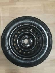Roda de ferro aro 14 com pneu goodyear 175/65 r14