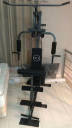 Estação de musculação + Halteres