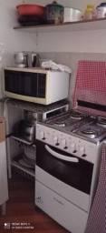 Kit fogão microondas e mesa