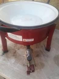 Fritadeira a gás tacho 3 litros com botijão 13 litros vazio