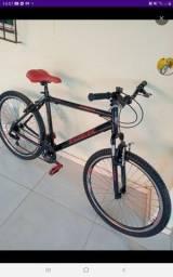 Bicicleta aro 26 quadro em alumínio   jance aero com marcha e amortecedor