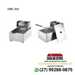 Fritadeira Elétrica 5 Litros C/ Tampa Stevan Inox