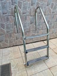 Escada para piscina,  alumínio