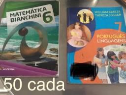 Título do anúncio: livros Matemática e português linguagens
