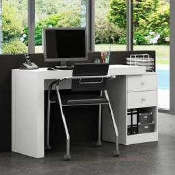 Título do anúncio: Mesa nova, de PC gaveta ajustável