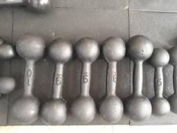 Halteres de ferro para musculação promoção só 6,99 o kg