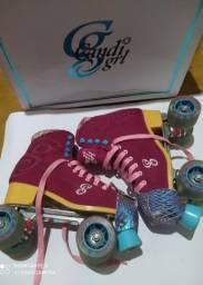 Título do anúncio: Patins quad Candy Girl 38/39.