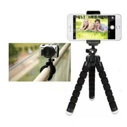Suporte Tripe para Celular Smartphone Flexível Tripé Gravar Vídeo Foto