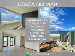 2 suítes, apartamento com 70m² em Armação - Formoso