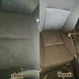 Limpeza Fina e Detalhada Nos bancos de Carros