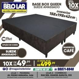 Título do anúncio: Base Box Queen Suede Amassado Marrom