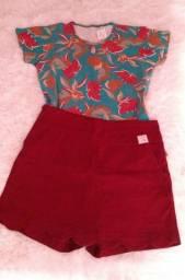 6 peças por um preço só shorts, blusas e calça