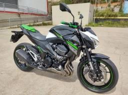 kawasaki z 800 abs 2017 branca moto impecável