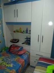 Conjunto de cama e guarda roupa acoplado infantil com 3 meses de uso