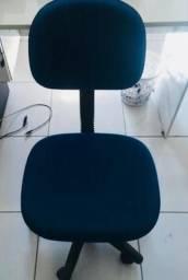 Cadeira escritório mais birô escrivaninha semi novos