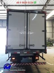 Bau gancheiro 5.50m caminhão 3/4 remanufaturado instalado Mathias Implementos