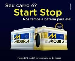 Bateria Moura 60 Ah EFB Para carros Start e Stop 24 meses de garantia