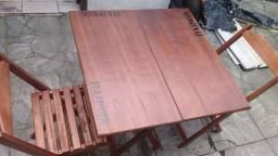 MESA 70x70 com 4 cadeiras NOVA com nome de cerveja R$ 300,00 a vista