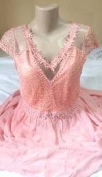 Vestido Longo de Festa - Rosa