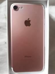 Iphone 7 rosê 128 gigas