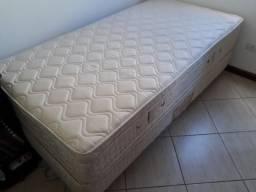 Cama box + Colchão Solteiro (Feito Sob Medida) 1,00 x 2,00 m