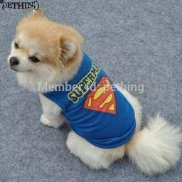 Roupa Cachorro Adidog e Superman