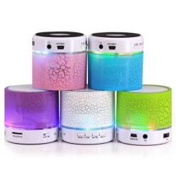 Caixa De Som Mini Luminaria Speaker Wireless Bluetooth Fm sd
