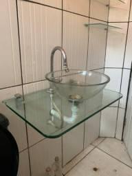 Bancada , Cuba de vidro pra banheiro