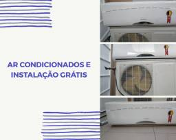 Ar condicionado com instalação grátis.
