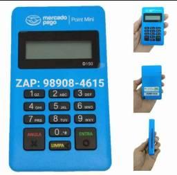 Maquina de Cartão Nova Point Mini Azul Na caixa