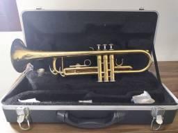 Trompete Vogga VSTR701 laqueado, Acompanha case térmico